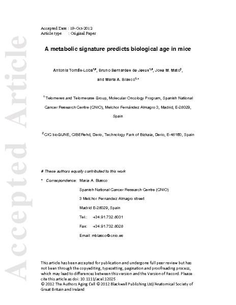 A_metabolic_signature_of_aging_BlascoM_2012