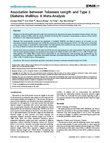 Association_between_TL_and_type2diabetes_ZhaoJ_PLoSOne_2013
