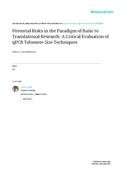 Critical_Evaluation_qPCR_techniques_Lustig_JCancerEpidiemology_Aug2015