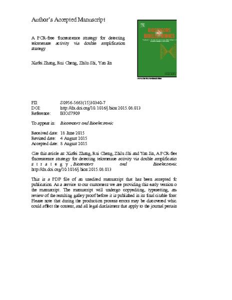 PCR-free fluorescence_Telomerase_activity.Yan_Jin.2015