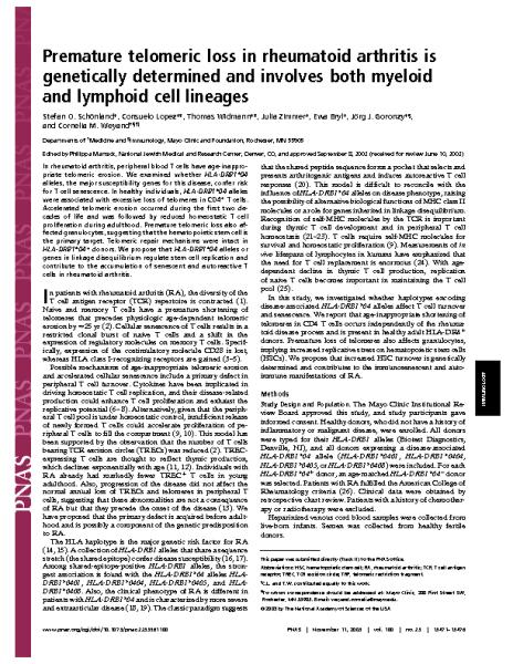 Telomeric_loss_in_rheumatoid_arthritis.Cornelia_Weynad.PNAS_2003